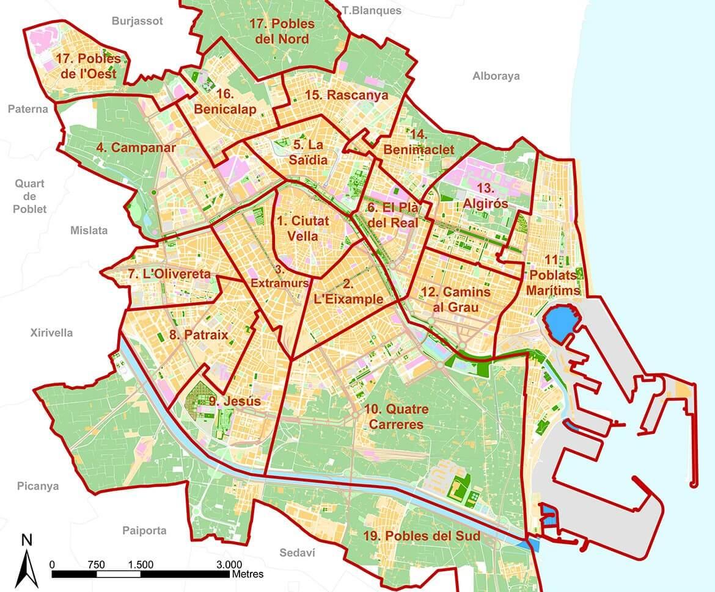 Valencia Map - Property for sale in Valencia